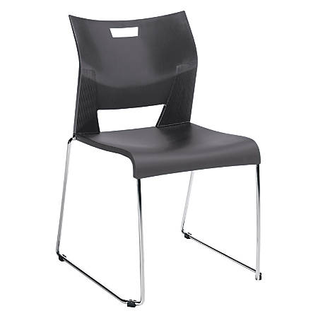 "Global® Duet™ Stacking Chair, 33 1/4""H x 20 1/2""W x 23""D, Platinum/Chrome"