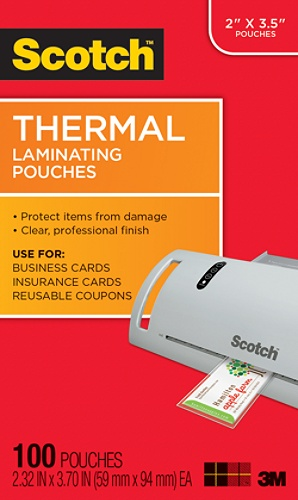 Scotch tp5851 100 thermal laminating pouches business card 2 516 x 3 scotch tp5851 100 thermal laminating pouches business card 2 516 x 3 710 pack of 100 by office depot officemax reheart Choice Image