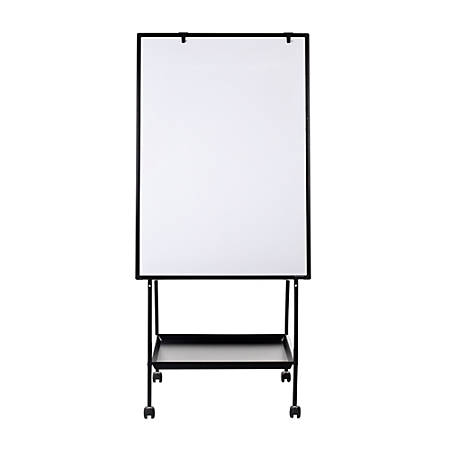 MasterVision® Magnetic Gold Ultra™ Adjustable Mobile Easel, Magnetic, Aluminum, Black