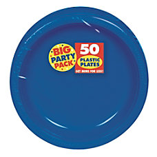Amscan Plastic Dessert Plates 7 Royal