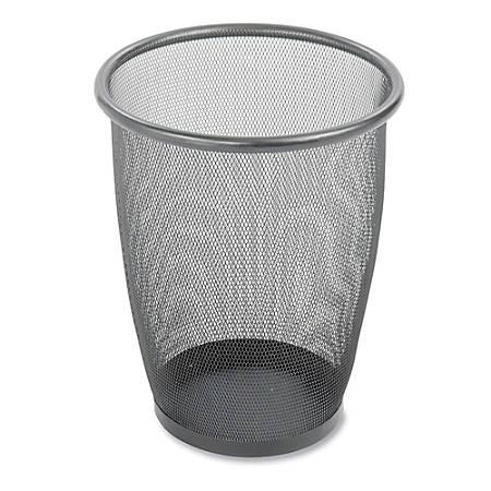 Safco® Mesh Wastebasket, 5 Gallons, Black