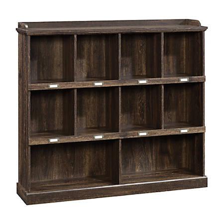 Sauder® Barrister Lane Cubby Bookcase, Iron Oak