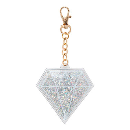 Office Depot® Brand Glitter Diamond Bag Charm, Assorted Colors