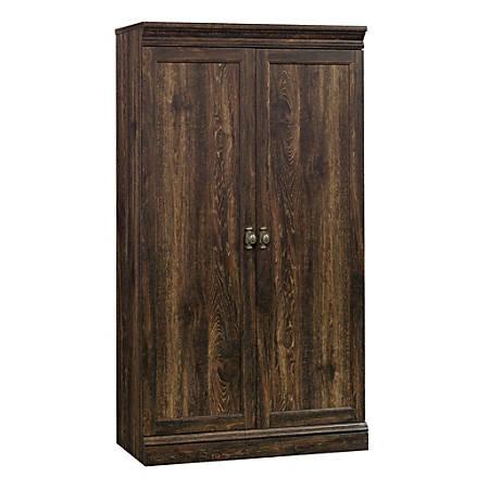 Sauder® Barrister Lane Storage Cabinet, 4 Shelves, Iron Oak
