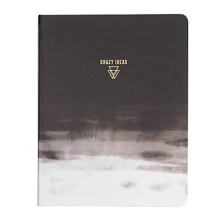 "Denik Crazy Ideas Vegan Leather Sketchbook, 8 1/2"" x 11"", 88 Pages, Black/White"