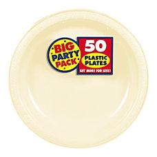 Amscan Plastic Dessert Plates 7 Vanilla