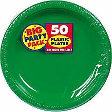 Amscan Plastic Plates 10 14 Festive