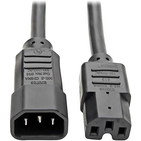 Tripp Lite Heavy Duty Computer Power Cord - 15A, 14AWG (IEC-320-C14 to IEC-320-C15) 10-ft.