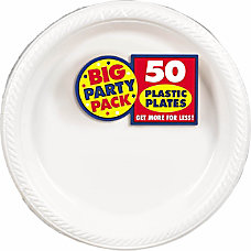 Amscan Plastic Plates 10 14 Frosty