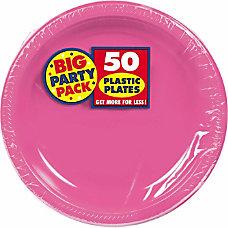 Amscan Plastic Plates 10 14 Bright