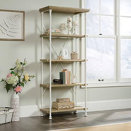 Sauder® Canal Street 5-Shelf Bookcase, Coastal Oak/White
