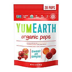 Yummy Earth Organic Lollipops 42 Oz
