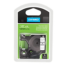 DYMO Black On White Tape 05