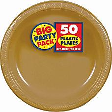 Amscan Plastic Plates 10 14 Gold