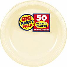 Amscan Plastic Plates 10 14 Vanilla