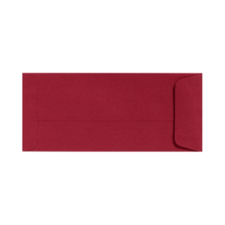 "LUX Open-End Envelopes With Peel & Press Closure, #10, 4 1/8"" x 9 1/2"", Garnet Red, Pack Of 250"