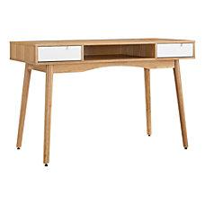Linon Caden Desk NaturalWhite