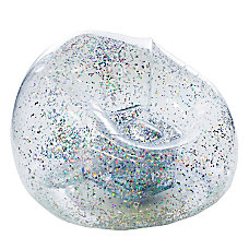 BloChair Glitter Inflatable Chair Silver