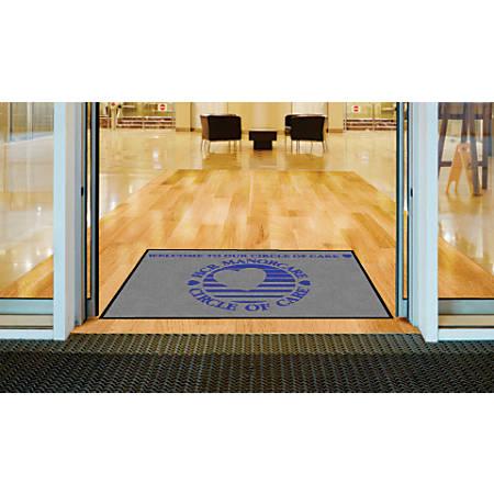 """Indoor Logo Nylon Floor Mat, Landscape, 4"""" x 6"""""""
