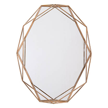 "Zuo Modern Octagonal Mirror, 35 1/4""H x 27 5/8""W 3 1/2""D, Antique"