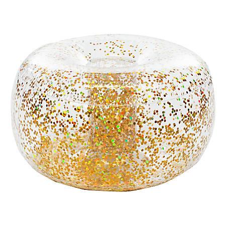 BloChair Glitter Inflatable Ottoman, Gold