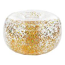 BloChair Glitter Inflatable Ottoman Gold