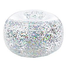 BloChair Glitter Inflatable Ottoman Silver
