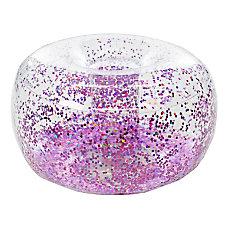 BloChair Glitter Inflatable Ottoman Pink