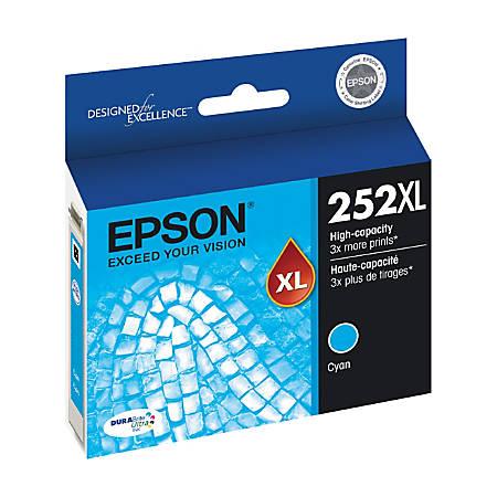 Epson® DuraBrite® Ultra T252XL220-S High-Yield Cyan Ink Cartridge