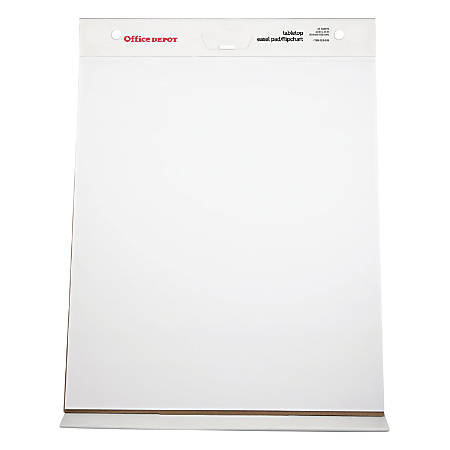 "Office Depot® Brand 30% Recycled Table Top Flip Chart, 20"" x 23"", Plain White Paper, 25 Sheets"