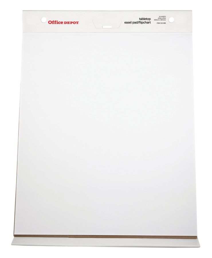 plain table chart. Office Depot Brand 30percent Recycled Table Top Flip Chart 20 X 23 Plain White Paper 25 Sheets By \u0026 OfficeMax T