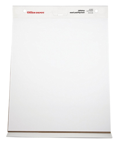 Office depot brand 30percent recycled table top flip chart 20 x 23