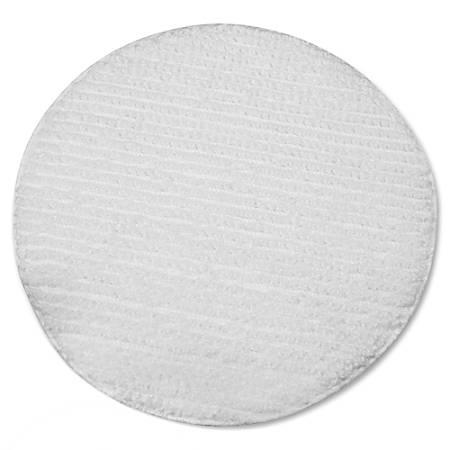 "Impact Products Low Profile Carpet Bonnet - 6/Carton - 17"" Width x 17"" Depth - Polyester - White"