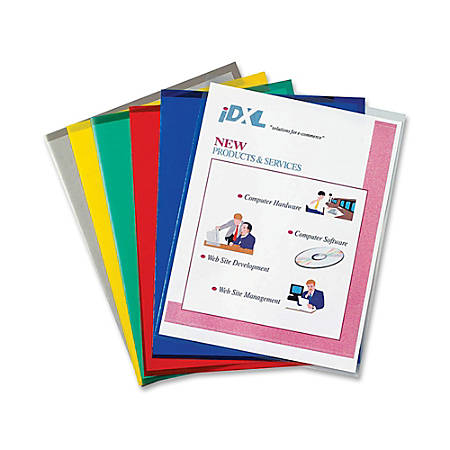 C-Line® Recycled Project Folders, Letter Size, Assorted Colors, Box Of 25