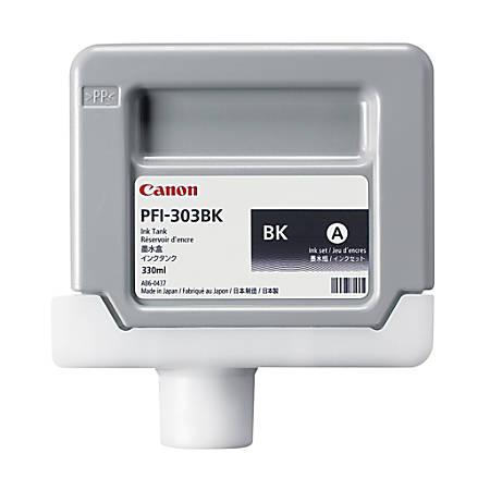 Canon PFI-303BK Black Ink Cartridge (2958B001AA)
