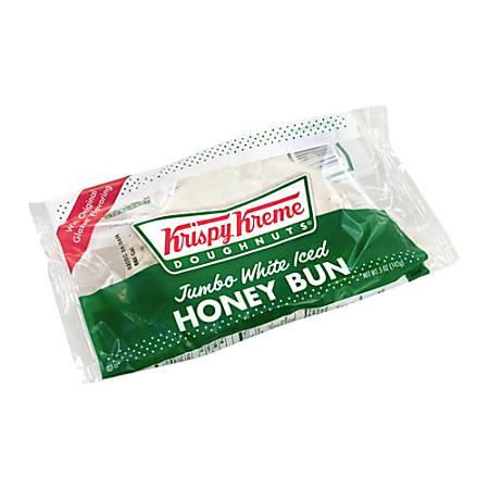 Krispy Kreme Jumbo White Iced Honey Buns, 5 Oz, Pack Of 9 Buns