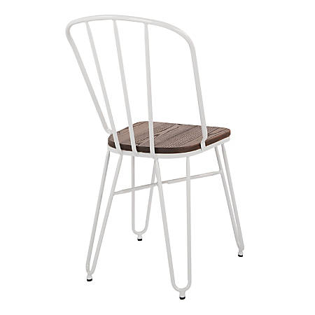 Office Star™ Charleston Folding Chairs, White, Set Of 4 Chairs