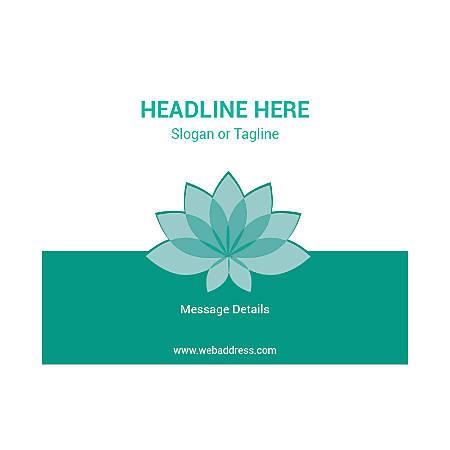 Custom Flyer, Horizontal, Teal Spa Flower