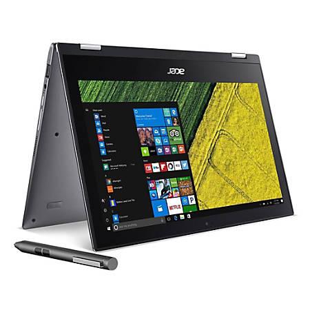 "Acer® Spin 1 Refurbished 2-In-1 Laptop, 11.6"" Touch Screen, Intel® Celeron®, 4GB Memory, 32GB Flash, Windows® 10, SP111-32N-P0QE (NX.GRMAA.011)"