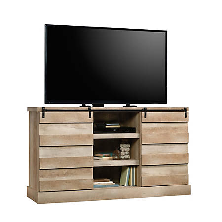 "Sauder® Cannery Bridge Credenza For 60"" Televisions, Lintel Oak"