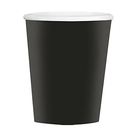 Amscan Hot/Cold Paper Cups, 12 Oz, Jet Black, Pack Of 40 Cups, Case Of 4 Packs