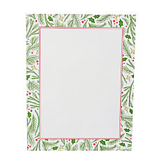 gartner studios holiday stationery sheets holly