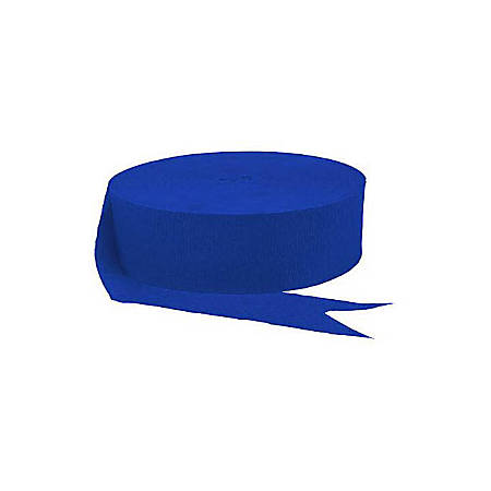 Amscan Jumbo Crepe Paper Streamers, 500', Royal Blue, Pack Of 6 Rolls