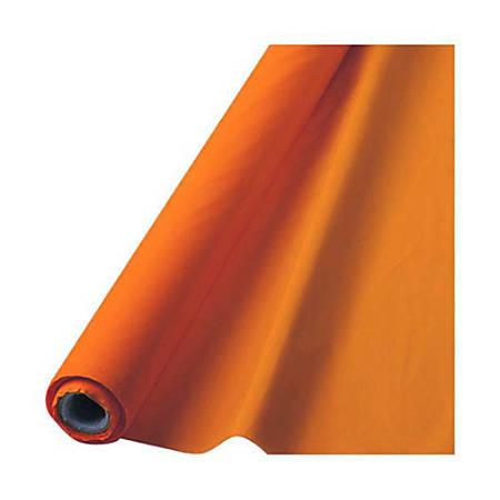 "Amscan Plastic Table Cover Roll, 100' x 40"", Orange Peel"