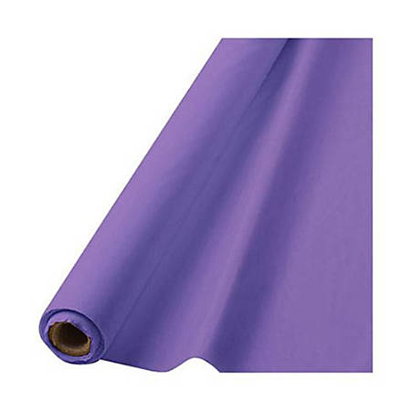 """Amscan Plastic Table Cover Roll, 100' x 40"""", Purple"""
