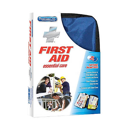 PhysiciansCare® Soft-Sided First Aid Kit, Blue, 95 Pieces