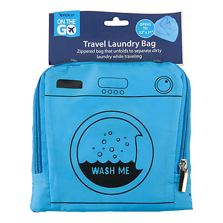 """Sprayco Collapsible Laundry Bag, 21"""" x 21"""", Assorted Colors"""