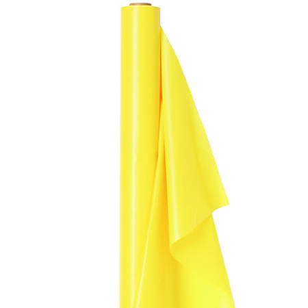 "Amscan Plastic Table Cover Roll, 100' x 40"", Light Yellow"