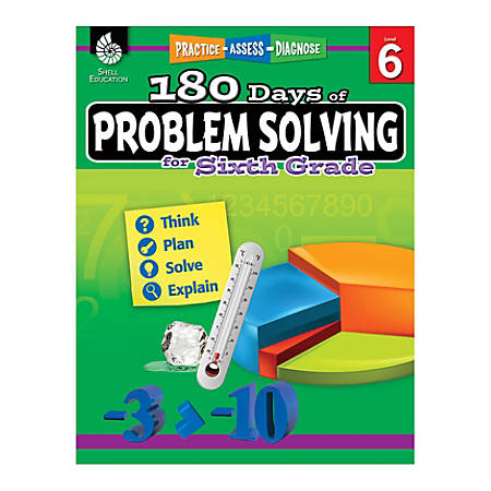 Shell Education 180 Days Of Problem Solving, Grade 6