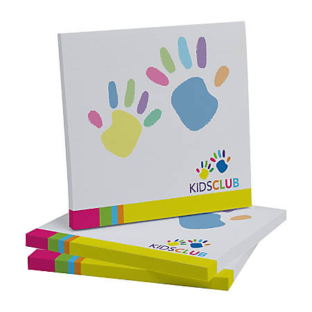 "Custom Full Color Post-it® Notes, 3"" x 3"", 50 Sheets Per Pad, Assorted Colors, Pack Of 6 Pads"